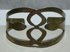 """"""" CHS """" MEXICO MEXICAN AZTEC STERLING SILVER MODERN CUFF BRACELET TAXCO DESIGNER"""