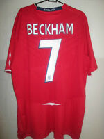 England 2008-2010 Beckham 7 Home Football Shirt Size Extra Extra Large /5167