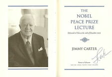 Signed Jimmy Carter book The Nobel Peace Prize Lecture JSA Certified i30477