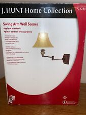 J. Hunt Home Collection Swing Arm Wall Sconce Aged Bronze Finish