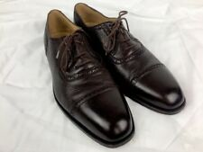 Gravati Men's Leather Oxford Lace Up Shoes Brown Size 11.5 Italy brogue Dress