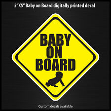 Baby on Board decal sticker made in the USA safety 4x4 off road sport nismo
