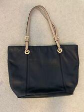 michael kors black handbag tote leather
