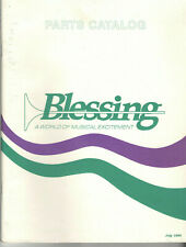 1995 BLESSING INSTRUMENTS PARTS CATALOG! ILLUSTRATED! TRUMPET/CORNET/TUBA/&MORE!