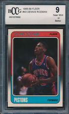 1988-89 Fleer #43 Dennis Rodman Rookie Card Graded BCCG 9