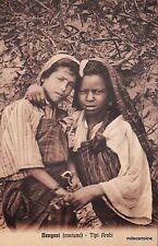 LIBIA ITALIANA  - BENGASI (COSTUMI) - TIPI ARABI - ANNULLO POSTA MILITARE 1912