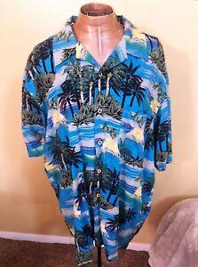 Mens Cherokee Waikiki Wear Rayon Aloha Shirt L