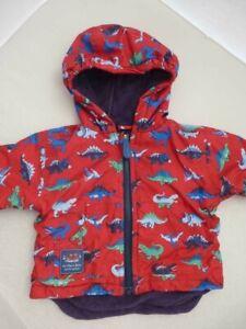 2-in-1 ❤️ JOJO MAMAN BEBE ❤️ WATERPROOF COAT 12-18m Jacket Fleece Lined DINOSAUR