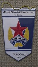 1979 Czechoslovakia Boxing Title Fight Usti nad Labem Red Star Pennant Flag