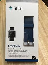 NEW Fitbit Blaze Accessory Band.  Classic Blue.  Size Large