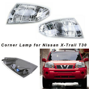 Pair Front Left Right Corner Turn light lamp For Nissan X-TRAIL XTRAIL T30 01-07