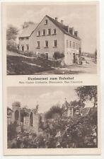 Ak Restaurant zum Bahnhof Bärenstein Bez. Chemnitz um 1930 ! (A2330