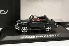 Norev 1/43 - Panhard Dyna X Cabrio Nero