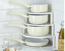 Plate And Pan Space Saver Kitchen Tidy Pots Organised Corner Cupboard Rack