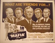 MAFIA half sheet movie poster 22x28 CLAUDIA CARDINALE FRANCO NERO LEE J COBB