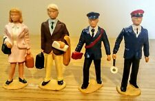 LGB G Scale, 4 Figures, businessman, woman with suit case, 2 railroad workers