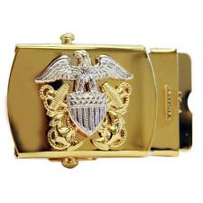 USN Navy Belt Buckle for Officer in Gold  NEW   (Made in USA)