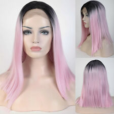 Ombre Short Body Wave Hair Lace Front Wig Bob Wig Synthetic Heat Resistant Wig s