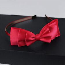 Women Lady Big Bowknot Ribbon Headband Bow Head Band Clip Hair Band Accessories
