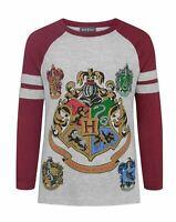 Harry Potter Hogwarts Girl's Raglan Long-Sleeved T-Shirt