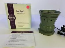 "Scentsy Full Size Warmer ""Verdigris"" Green Stand New In Box"
