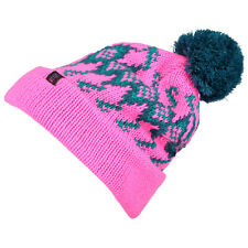 O'NEILL SKI HAT.NEW REISSUE NEON PINK KNITTED BOBBLE POMPOM BEANIE 7W 4118 4041