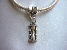 1x Hourglass Egg Timer Kitchen Pendant Charm suit European Bracelet Necklace DIY