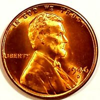 1946-D, Lincoln Wheat Cent Penny BU Gorgeos, CH, GEM Nice Luster From OBW Roll