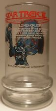 Star Trek Iii Search for Spock Limited Edition 1984 Taco Bell Glass Lord Kruge