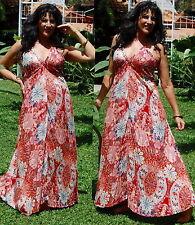 red blue maxi halter dress OS M L XL 1X 2X  rayon chiffon