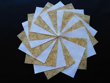 30 4x4 Yellow Quilt Fabric Squares~4058a