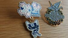 Brand New 2 pcs olympic pins to Tokyo 2020
