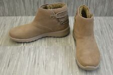 Skechers Glow 15502 Hi-Top Shoes, Women's Size 9.5, Taupe