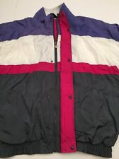 Vtg Christian Dior Monsieur Nylon Sport Jacket Jump Suit Top Retro Medium M EUC