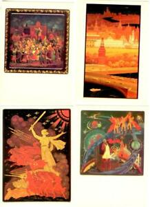 Russian lacquer art. 24 Postcards in the folder