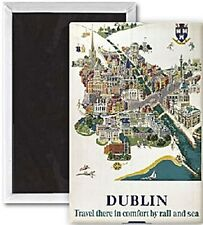 Dublin Map (old rail ad.) fridge magnet   (se)