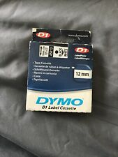 DYMO D1 45013 Label Cassette Tape Black Print On White With Free DYMO Labelmaker