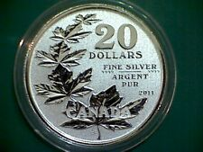 2011 CANADA $20 for $20 Maple leaves silver coin  - First in series!! PERFECT