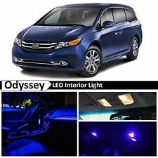 Honda Odyssey Blue Interior + License Plate LED Lights Package Kit + TOOL