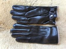 Men's winter leather gloves lambskin with cashmere lining black brown blue