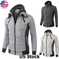 Jacket Warm Hoodie Men's Coat Sweater Hooded Sweatshirt Outwear Winter Tops USA