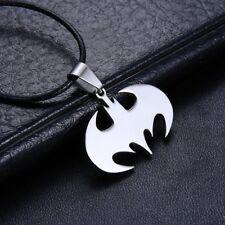 Fashion Unisex Men's Stainless Steel Bat Batman Jewelry Punk Pendant Necklace