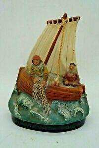 Souvenir Of Edge Sea L'Island D'Adamterre Terracotta Signed Moinet - Fish Sion