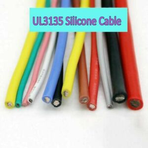 12AWG UL3135 Silicone Wire Copper Tinned Flexible Soft Cable Brown Green Blue