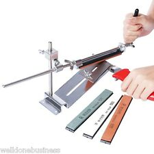 Professional Knife Sharpener Kitchen Grinder Sharpening System with 4 Whetstone
