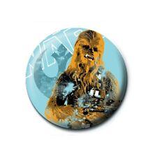 Genuine Star Wars Chewbacca Distressed Button Badge Pin Badge Retro Lucasfilm