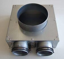 Anschlusskasten LA-V-125-63-2 metall Zuluft und Abluft Ventile 125 mm Lüftung