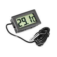 Thermomètre Digital LCD avec Sonde Température Voiture Réfrigérateur Aquarium