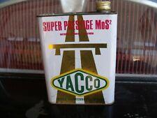 ancien  bidon HUILE YACCO BLANC indus. ,GARAGE AUTO MOTO,