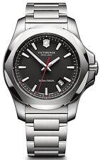 Victorinox 241723 Swiss Army I.N.O.X Black Dial Stainless Steel Men's Watch